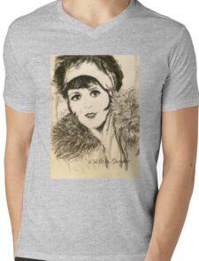 Clara, Scarf and Fur Mens V-Neck T-Shirt