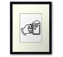 drinking beer booze handle hand Framed Print