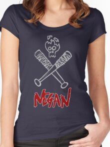 Negan - Cracked Skull and Crossed Bats Women's Fitted Scoop T-Shirt