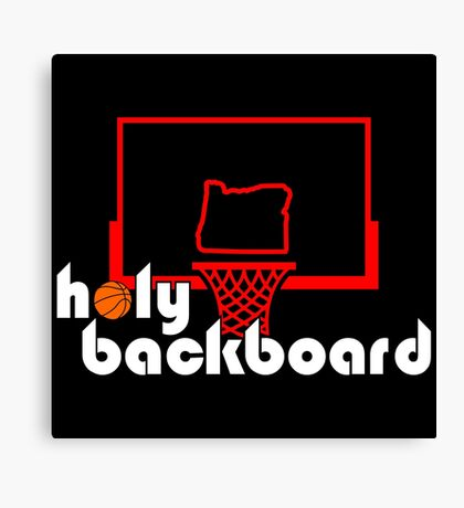 Holy Backboard Podcast Canvas Print