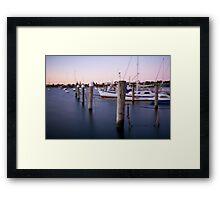 Sandringham yacht squadron at dusk  Framed Print