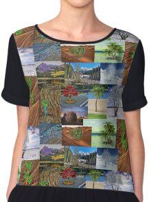 PixelSquid Conglom Landscapes Chiffon Top