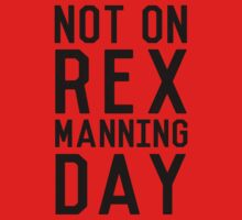 Rex Manning Day_Black One Piece - Short Sleeve