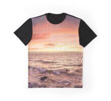 Half moon bay sunset panorama Graphic T-Shirt