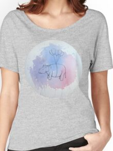 Helium Hippo Women's Relaxed Fit T-Shirt