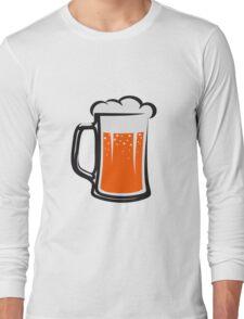 drinking beer booze handle Long Sleeve T-Shirt