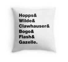 Animal Squad #2 Throw Pillow