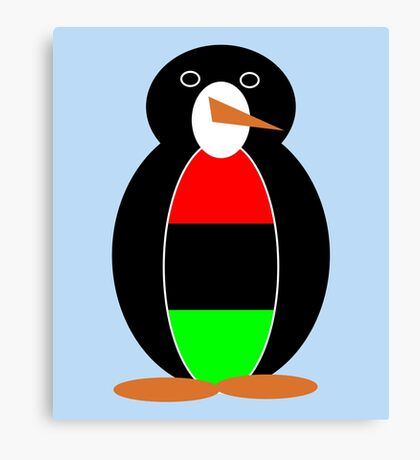 African American Penguin Canvas Print