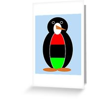 African American Penguin Greeting Card