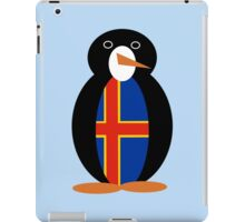 Aaland Islands Penguin Flag iPad Case/Skin
