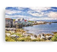 Indian Harbour - painted Canvas Print