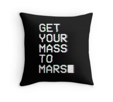 Get Your Mass to Mars (Glitch) – Pillows & Totes Throw Pillow