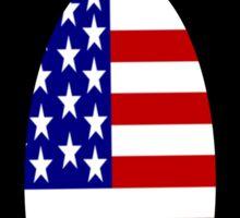 USA Penguin -- Penguin United States Sticker