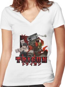 Vash and Nicholas  Women's Fitted V-Neck T-Shirt