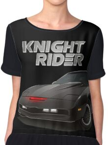 knight rider black car Chiffon Top