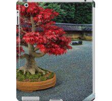PixelSquid Red Bonsai Tree in the Zen Garden iPad Case/Skin