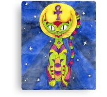 Ankh Cat Totem Canvas Print
