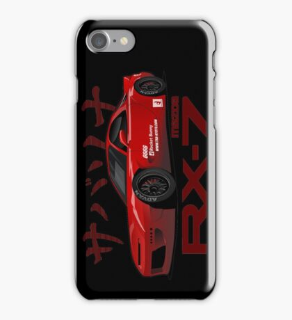 red RX-7 performance iPhone Case/Skin