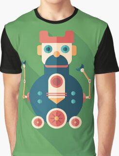 Robot Locomotive Graphic T-Shirt