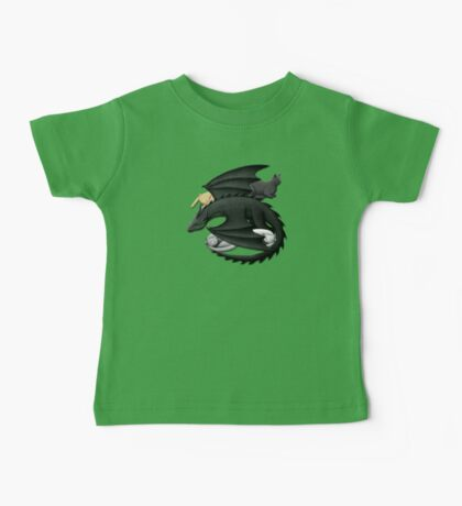 Black Dragon Guarding Sleeping Cats Baby Tee
