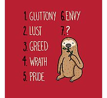Sloth Sin Photographic Print