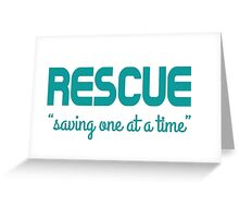 Shelter Pet Rescue  Greeting Card