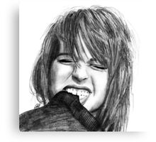 Hayley Williams Drawing Canvas Print