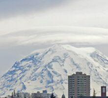 Mt. Rainier over Tacoma Sticker