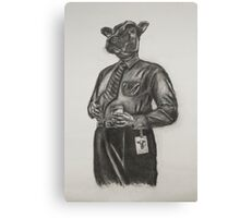 Corporate Cow Canvas Print