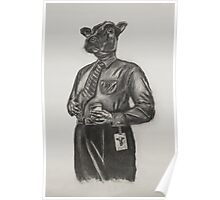Corporate Cow Poster