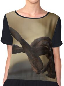 Barbed Wire Chiffon Top