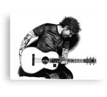 Ed Sheeran Drawing Canvas Print