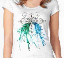 Ocean Mandala Women's Fitted Scoop T-Shirt