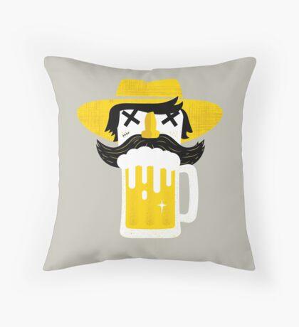 BeerMan Throw Pillow