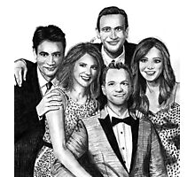 How I Met Your Mother Drawing Photographic Print