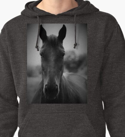 Black and White Horse Pullover Hoodie