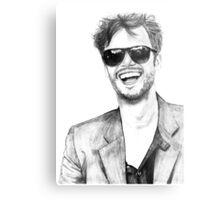 Matthew Gray Gubler Drawing Metal Print