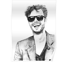 Matthew Gray Gubler Drawing Poster