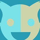Funky Yellow/Blue Cat by RampagingKoala