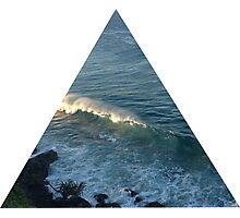 Wave triangle Photographic Print
