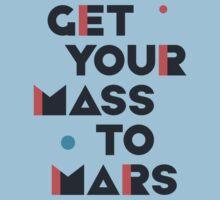 Get Your Mass to Mars (Modern/Dark) – Shirts & Hoodies One Piece - Short Sleeve