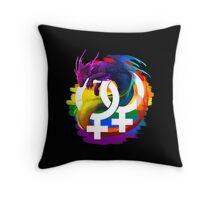 Lesbian Pride Dragon Throw Pillow