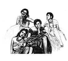 HBO Girls Drawing Photographic Print
