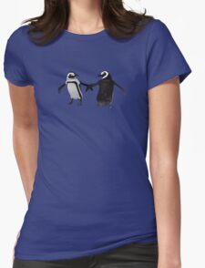Penguin Dance Womens Fitted T-Shirt