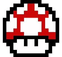 Mario Bros Game Hongo Champiñon 8-Bits Photographic Print