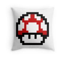 Mario Bros Game Hongo Champiñon 8-Bits Throw Pillow