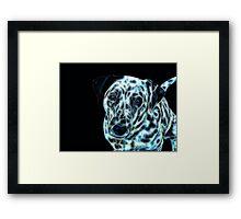 Kirra the Fractalius Dalmatian Dog Framed Print