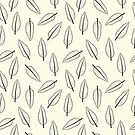 Hand Drawn Leaf Pattern by Mike Taylor