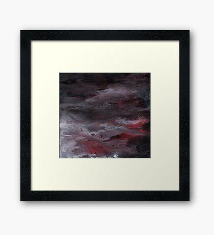 Sea of Blood, Leaden Sky Framed Print