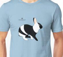 magpie harlequin rabbit Unisex T-Shirt